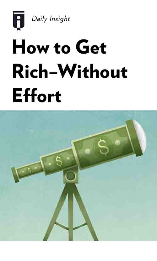 "Book Cover for ""How to Get Rich - Without Effort"""
