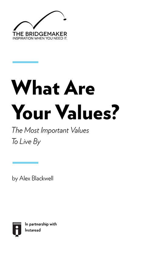 "Book Cover for ""What Are Your Values? The Most Important Values To Live By"""