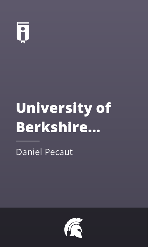 """Book Cover for """"University of Berkshire Hathaway"""""""