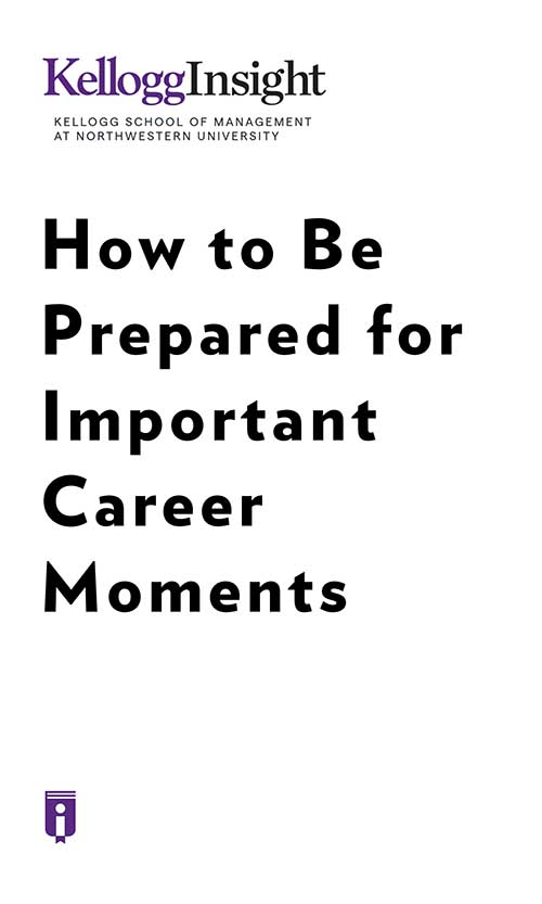 "Book Cover for ""How to Be Prepared for Important Career Moments"""