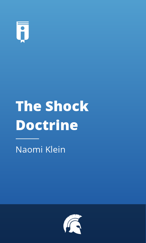 "Book Cover for ""The Shock Doctrine"""