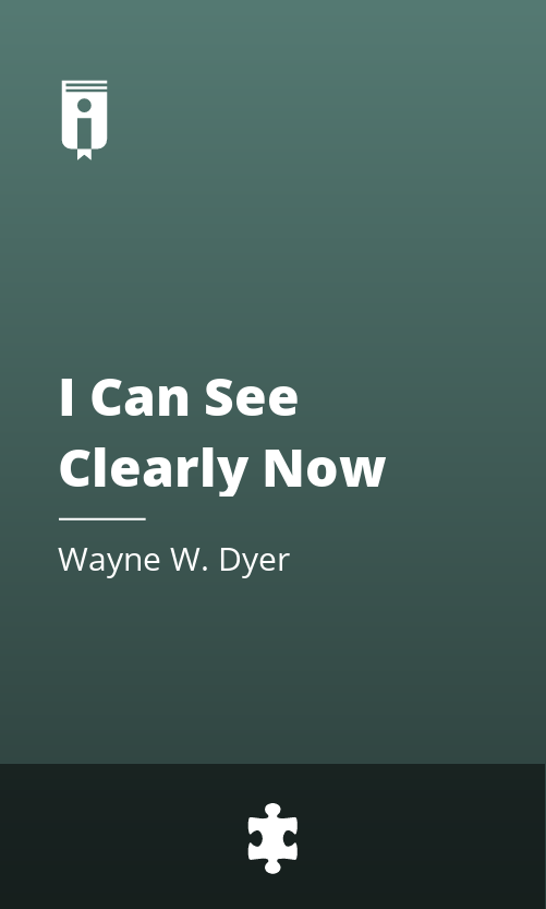 """Book Cover for """"I Can See Clearly Now"""""""