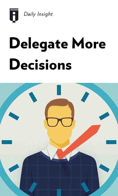 "Book Cover for ""Delegate More Decisions"""