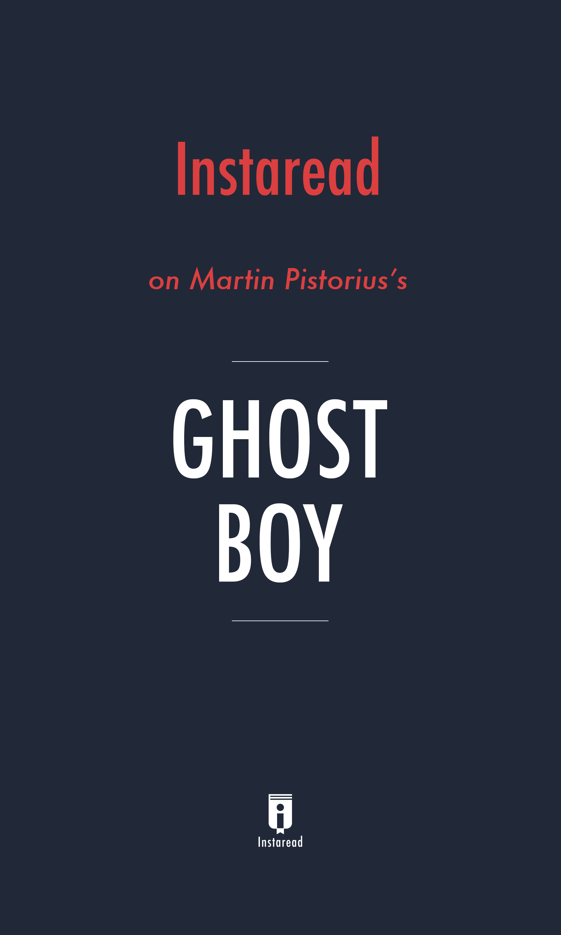 """Book Cover for """"Ghost Boy"""""""