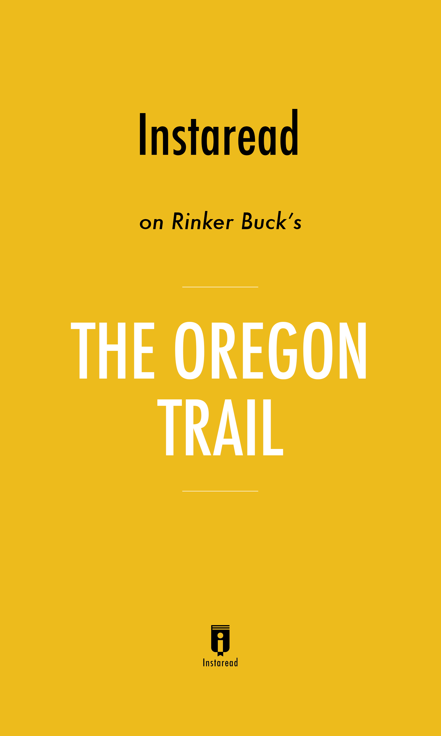 """Book Cover for """"The Oregon Trail"""""""