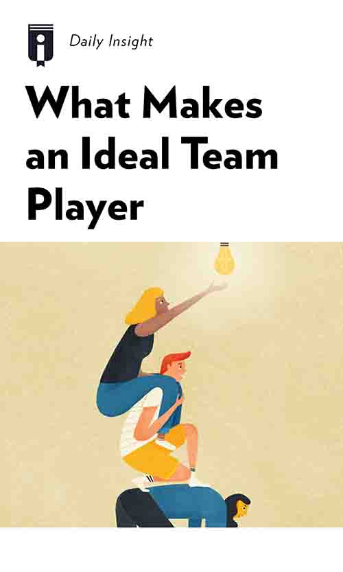 "Book Cover for ""What Makes an Ideal Team Player"""