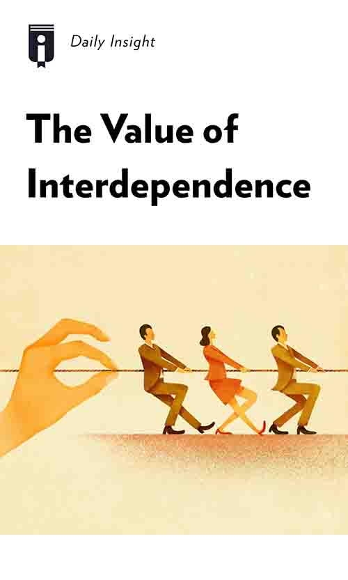 "Book Cover for ""The Value of Interdependence"""