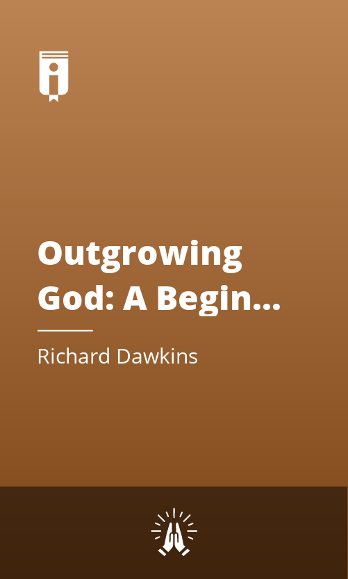 "Book Cover for ""Outgrowing God: A Beginner's Guide"""