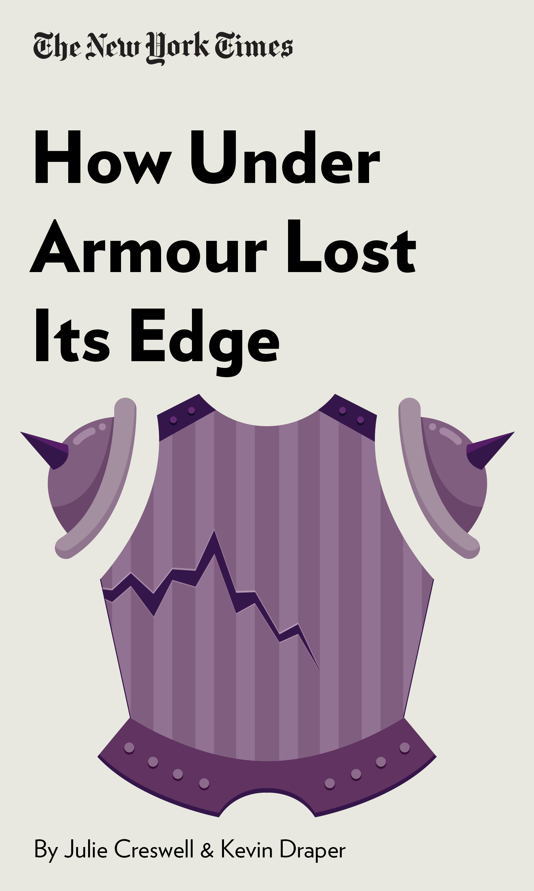 """Book Cover for """"How Under Armour Lost Its Edge"""""""
