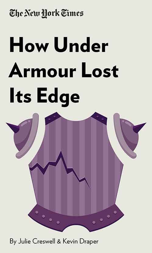 "Book Cover for ""How Under Armour Lost Its Edge"""