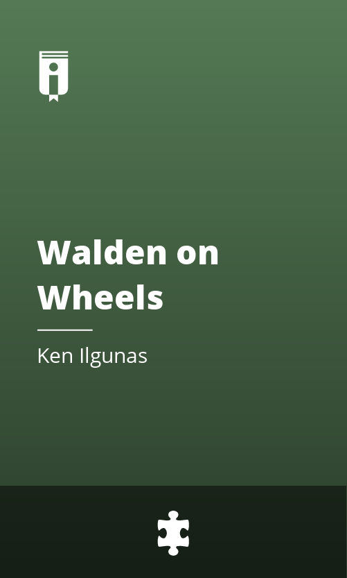 """Book Cover for """"Walden on Wheels"""""""