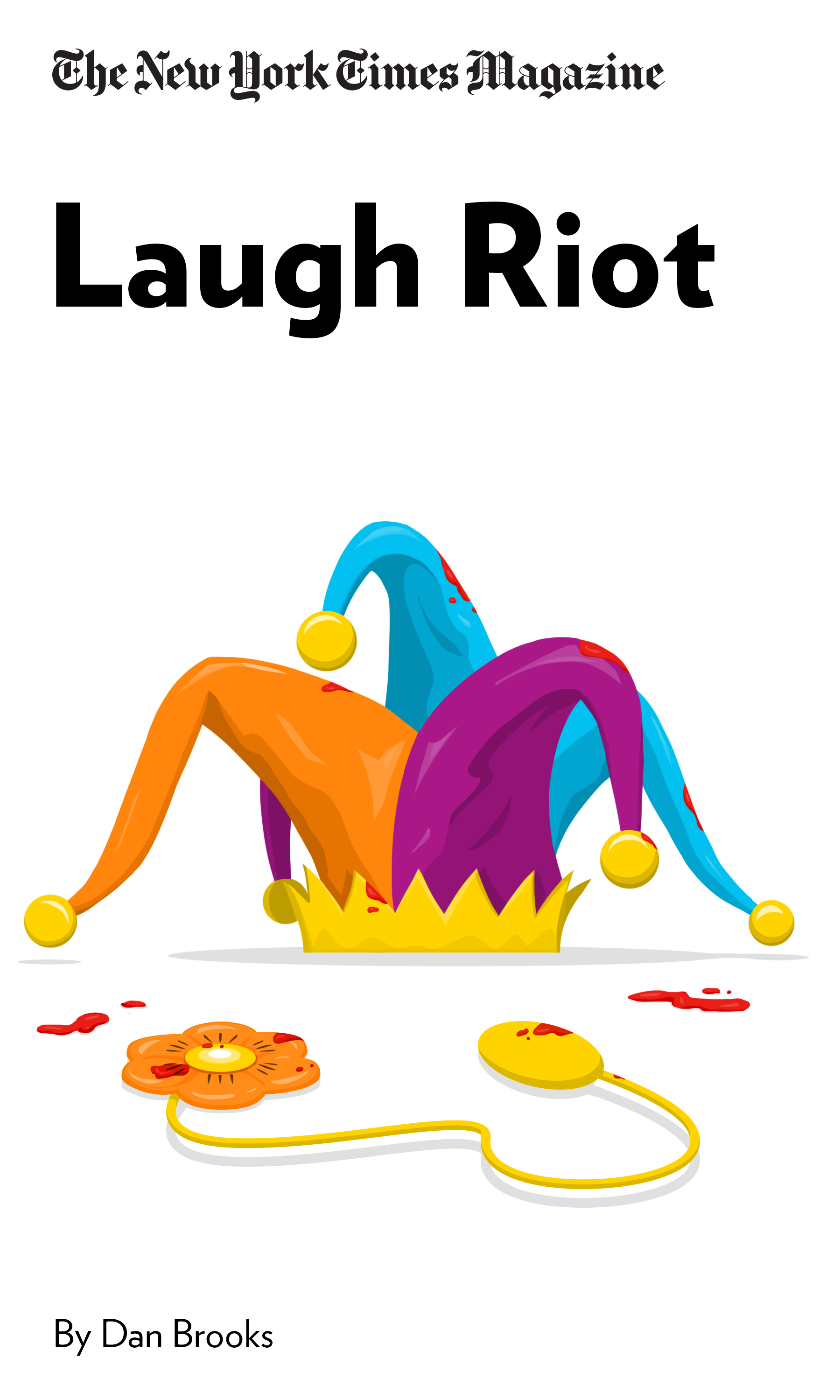 """Book Cover for """"Laugh Riot"""""""