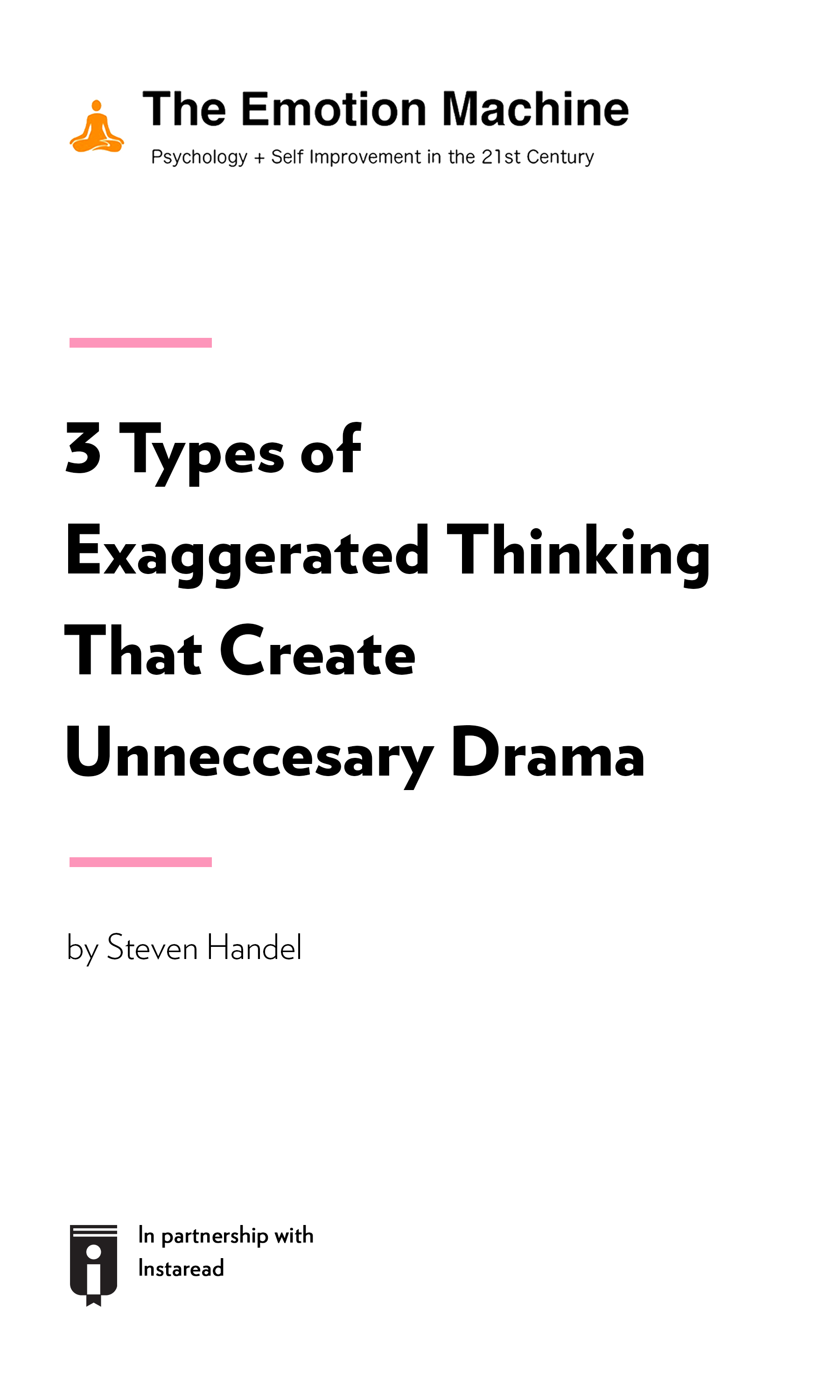 "Book Cover for ""3 Types of Exaggerated Thinking That Create Unnecessary Drama"""