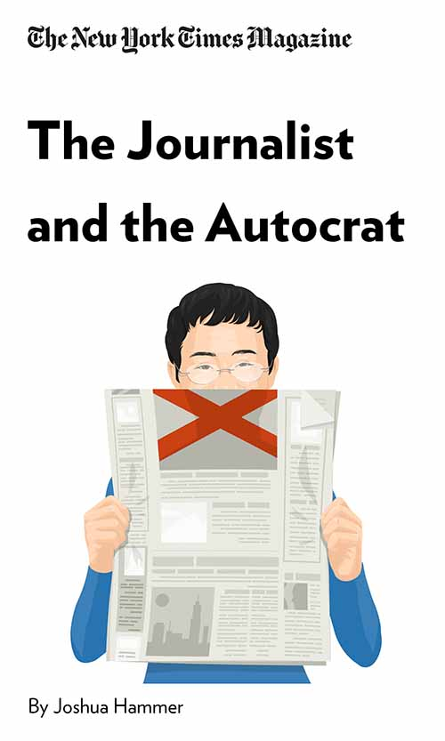 "Book Cover for ""The Journalist and the Autocrat"""