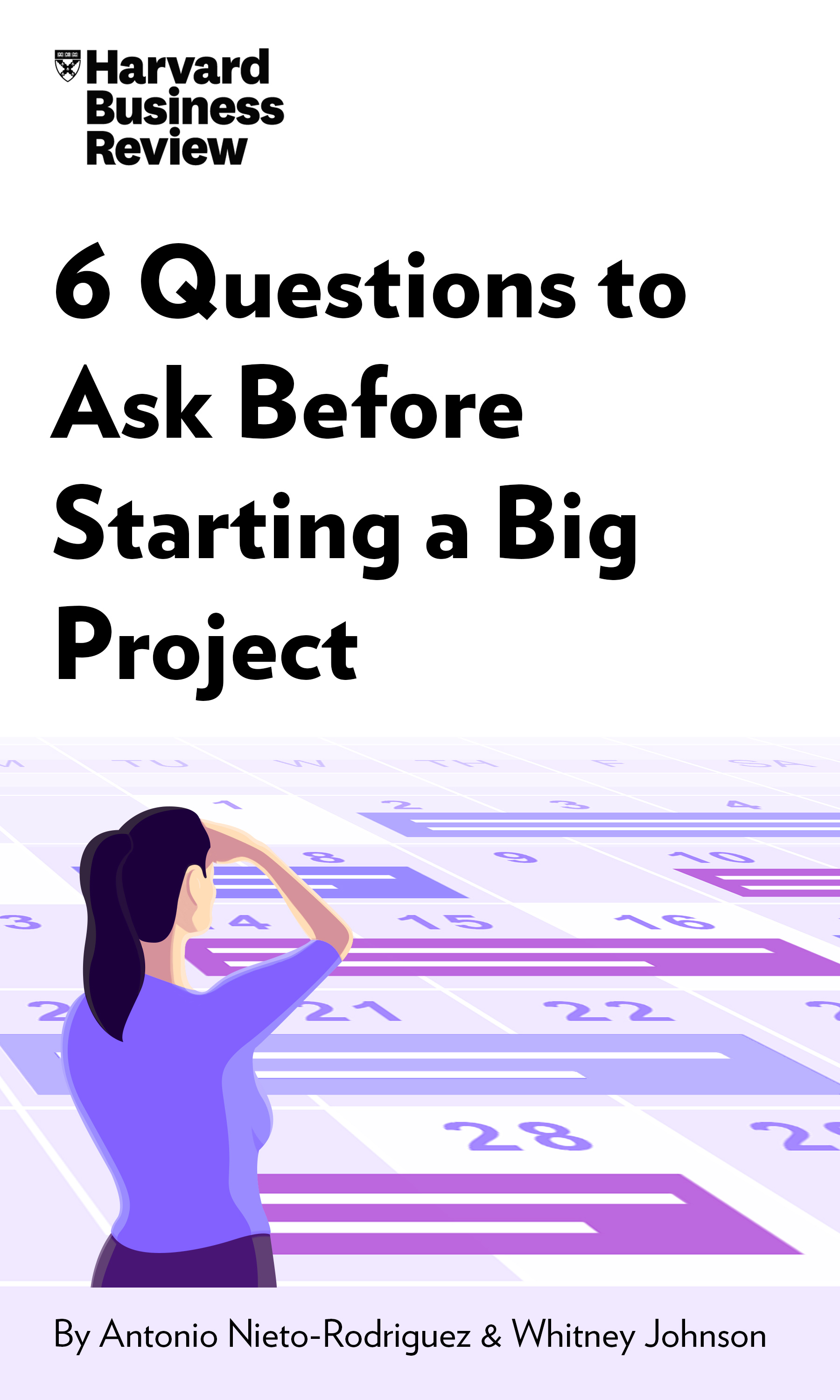 "Book Cover for ""6 Questions to Ask Before Starting a Big Project"""