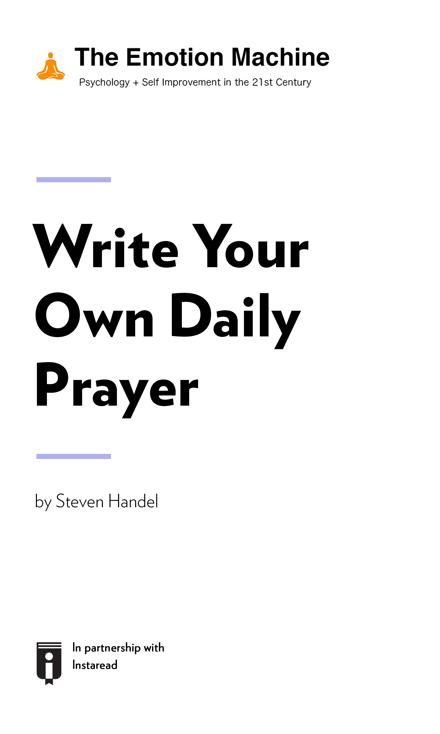 """Book Cover for """"Write Your Own Daily Prayer"""""""