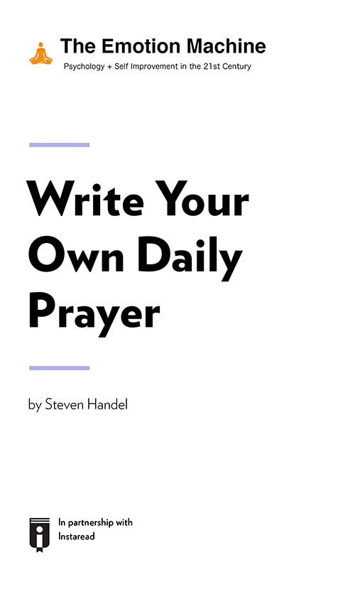 "Book Cover for ""Write Your Own Daily Prayer"""