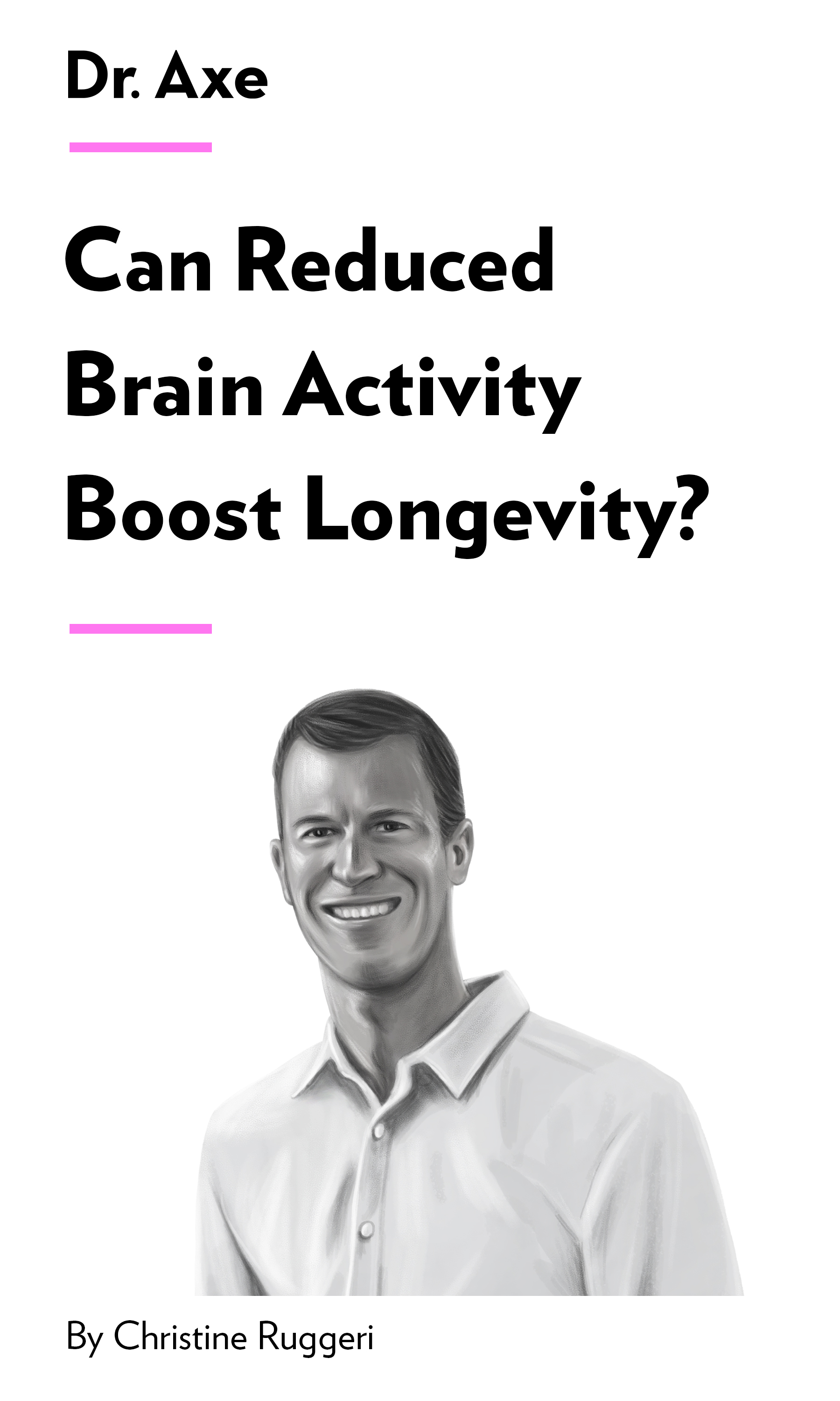 """Book Cover for """"Can Reduced Brain Activity Boost Longevity?"""""""
