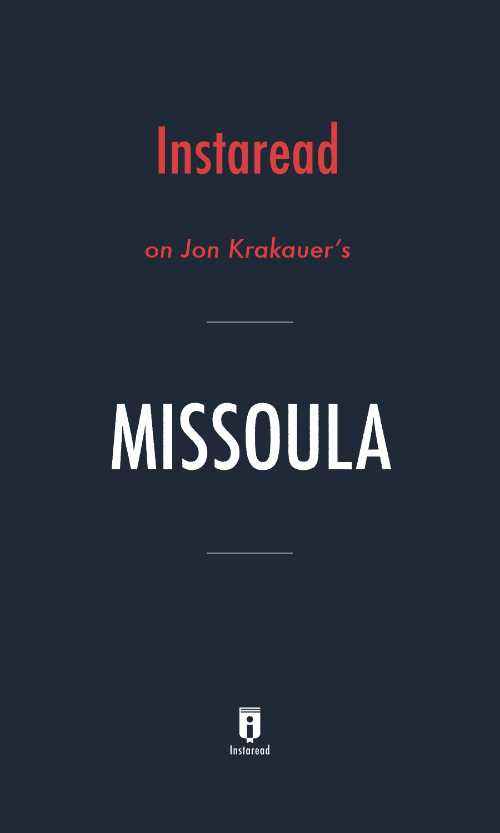 "Book Cover for ""Missoula"""