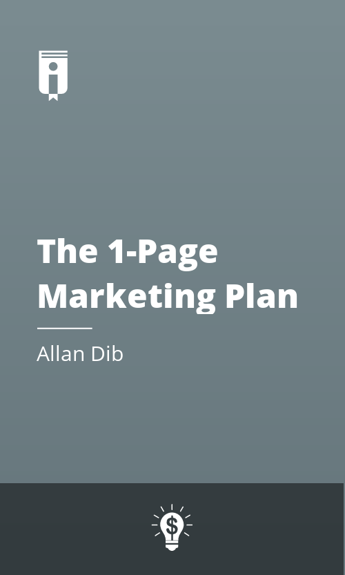 "Book Cover for ""The 1-Page Marketing Plan"""