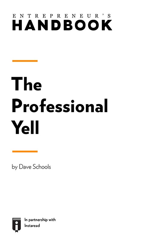 "Book Cover for ""The Professional Yell"""