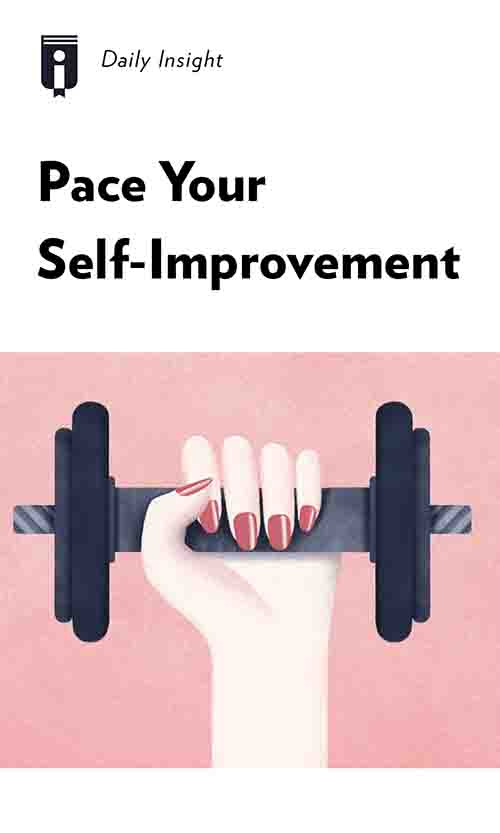 "Book Cover for ""Pace Your Self-Improvement"""