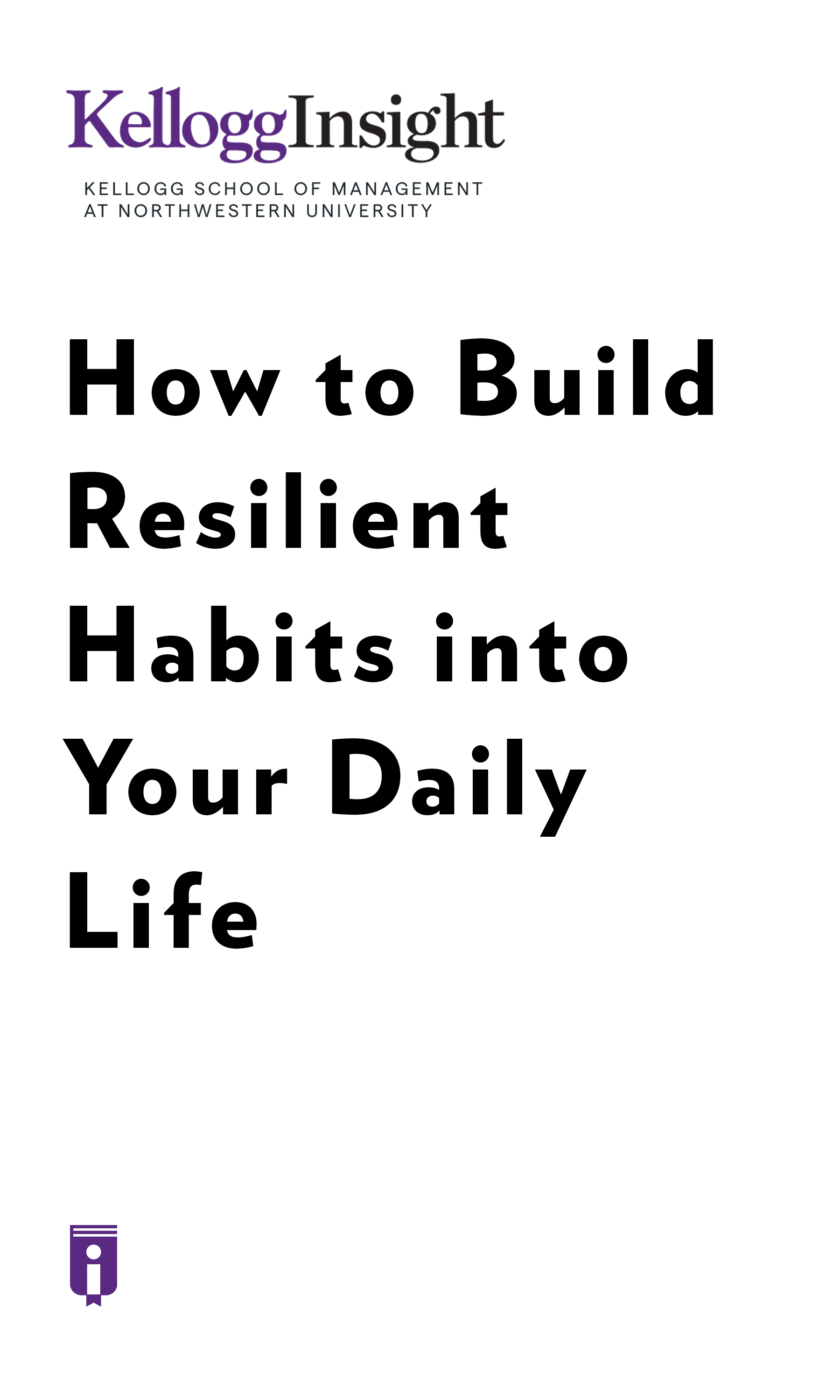 """Book Cover for """"How to Build Resilient Habits into Your Daily Life"""""""