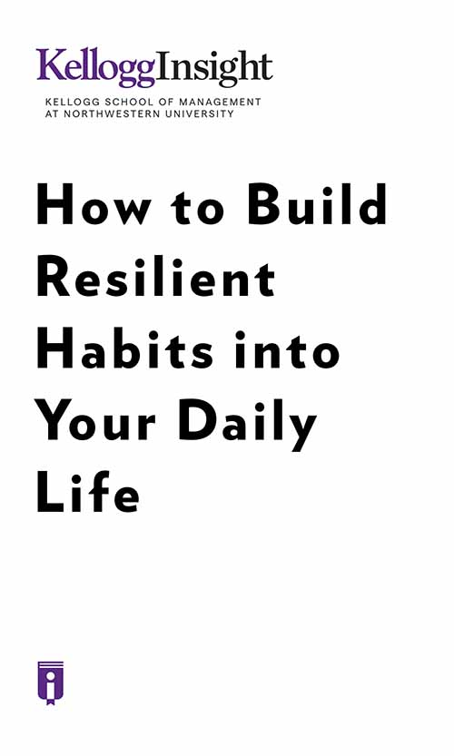 "Book Cover for ""How to Build Resilient Habits into Your Daily Life"""