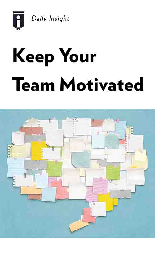 "Book Cover for ""Keep Your Team Motivated"""