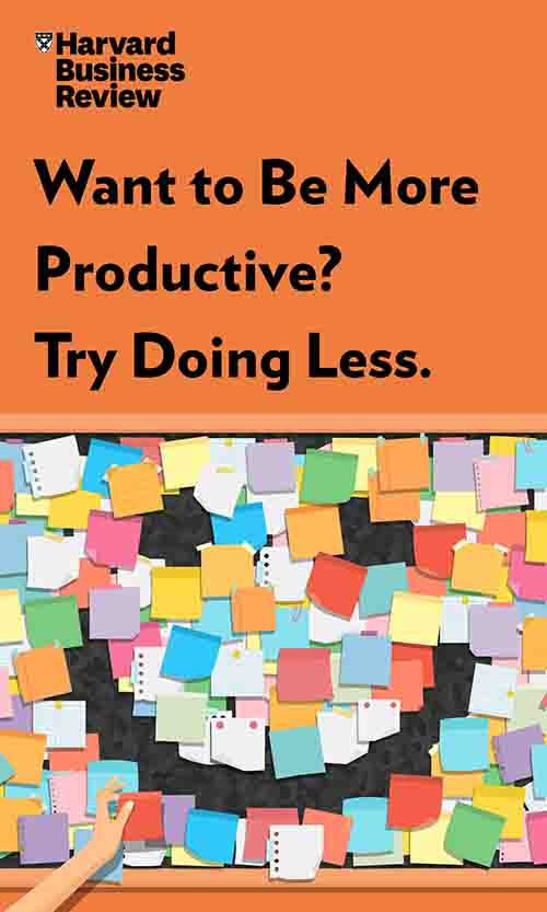 "Book Cover for ""Want to Be More Productive? Try Doing Less."""