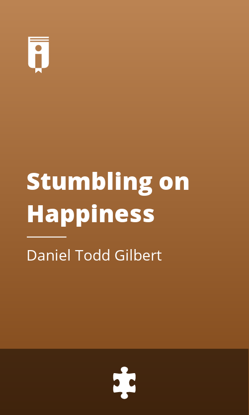 """Book Cover for """"Stumbling on Happiness"""""""