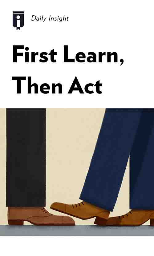 "Book Cover for ""First Learn, Then Act"""