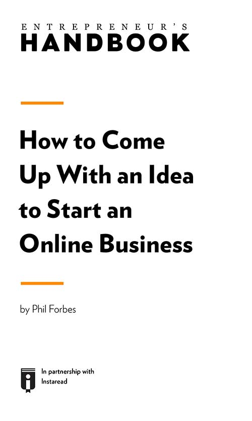 "Book Cover for ""How to Come Up With an Idea to Start an Online Business"""