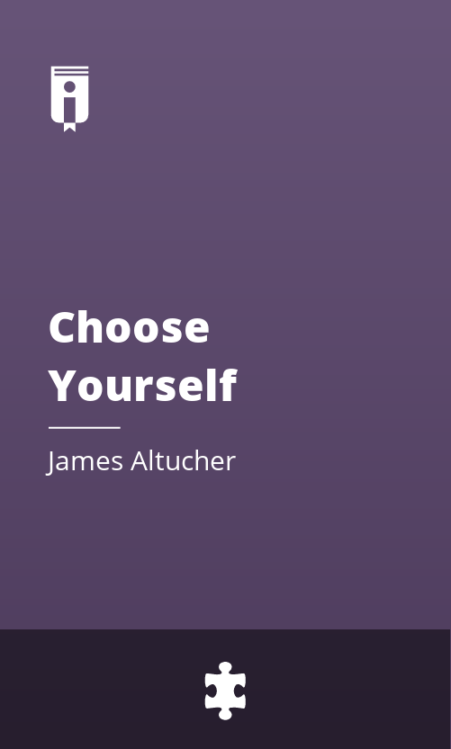 """Book Cover for """"Choose Yourself"""""""