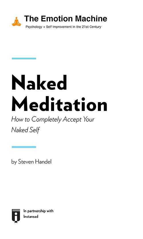 "Book Cover for ""Naked Meditation: How to Completely Accept Your Naked Self"""