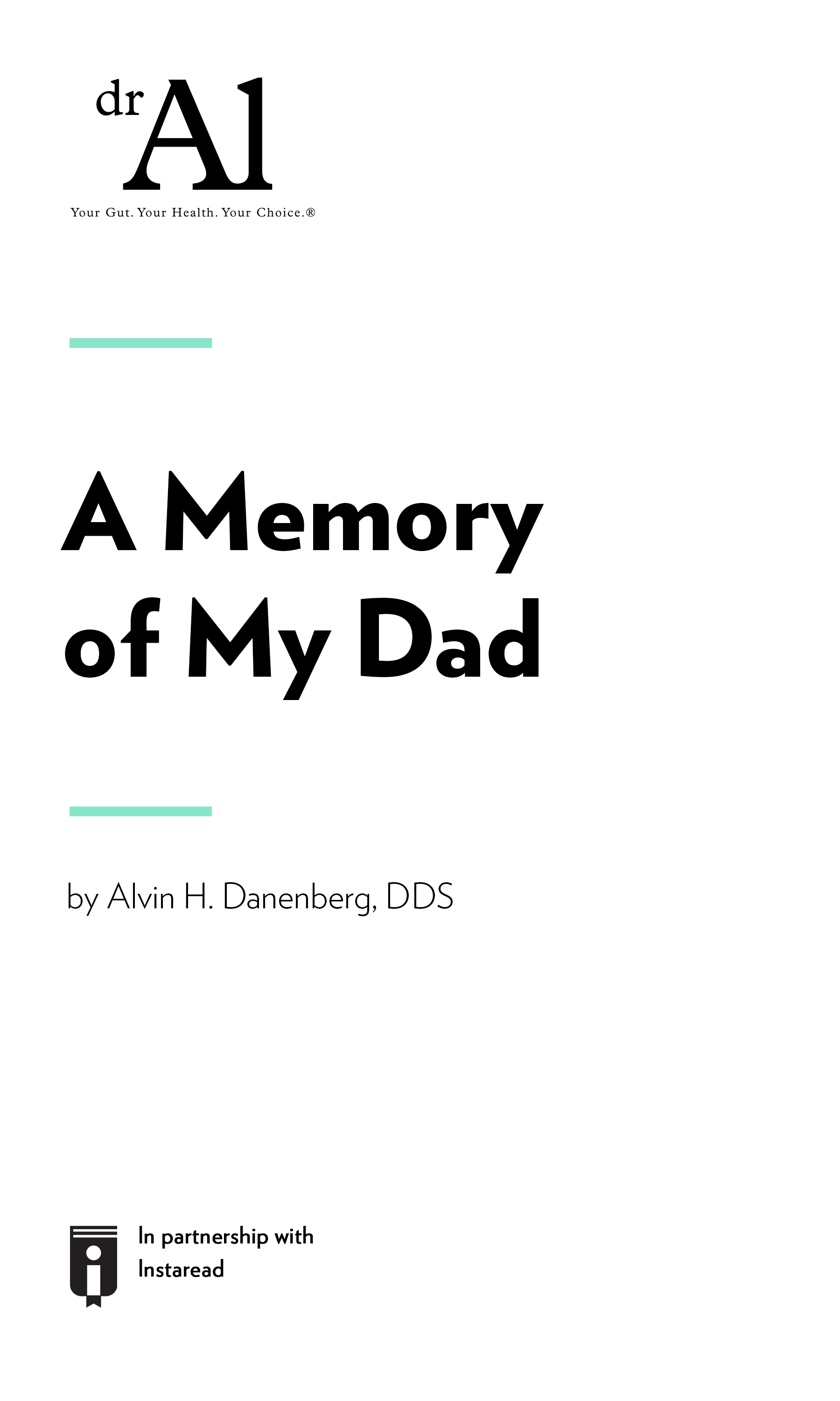 """Book Cover for """"A Memory of My Dad"""""""