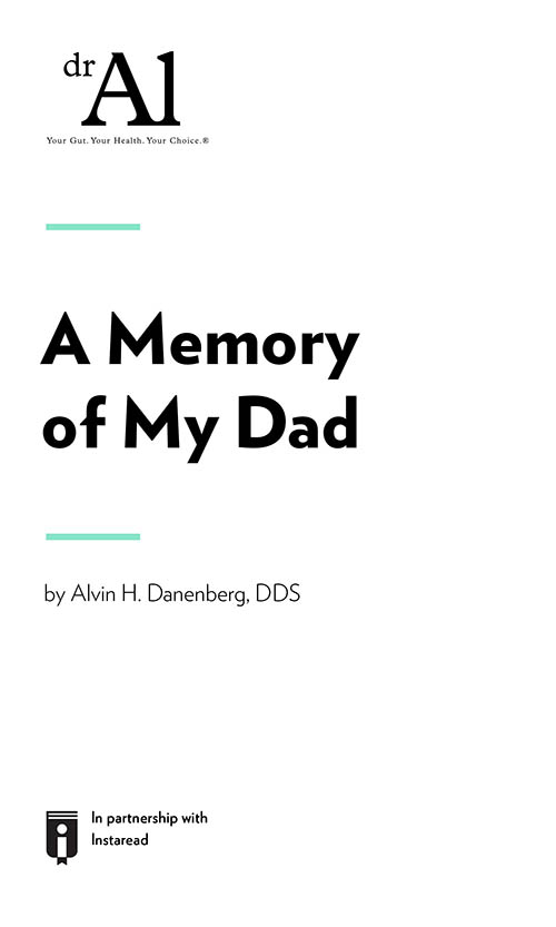 "Book Cover for ""A Memory of My Dad"""