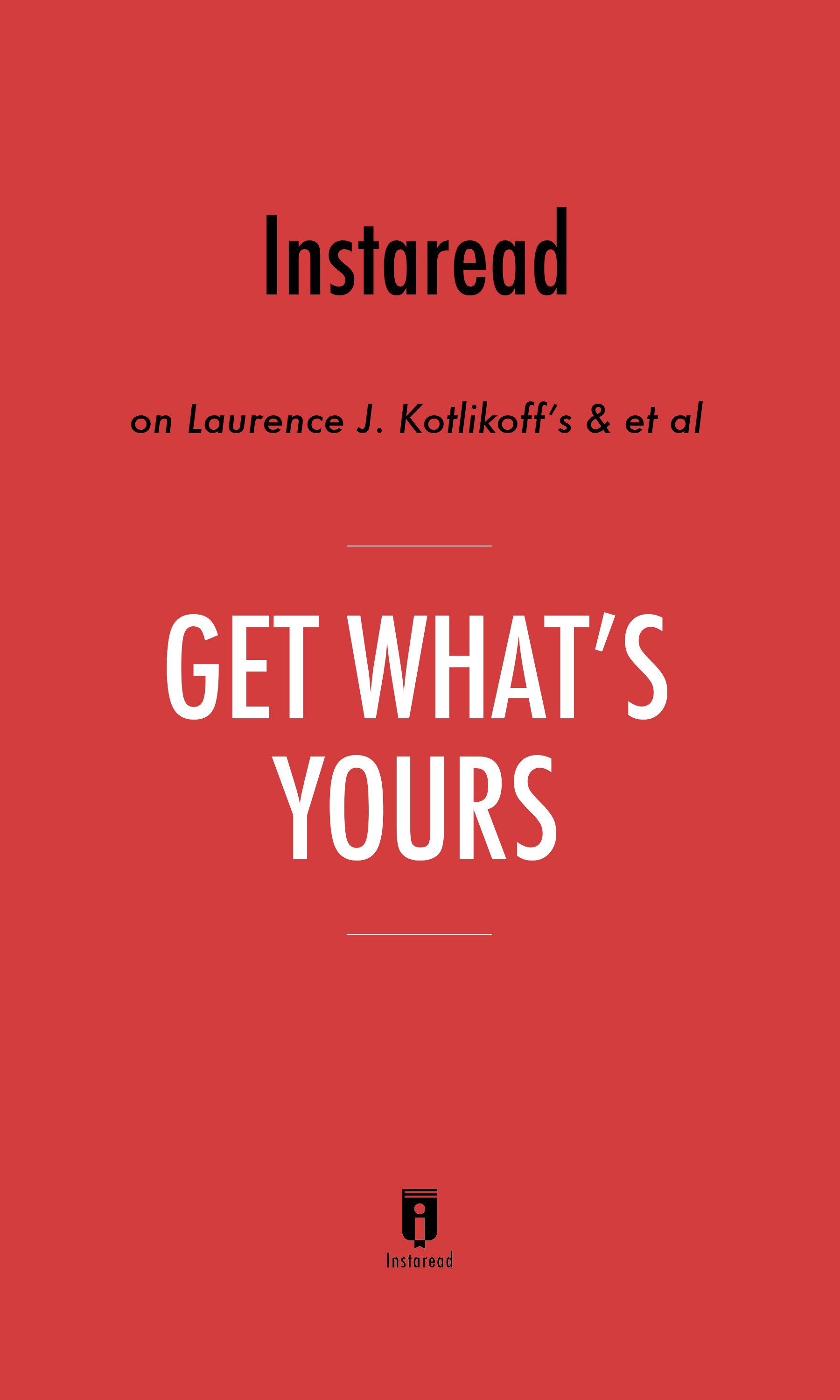 "Book Cover for ""Get What"