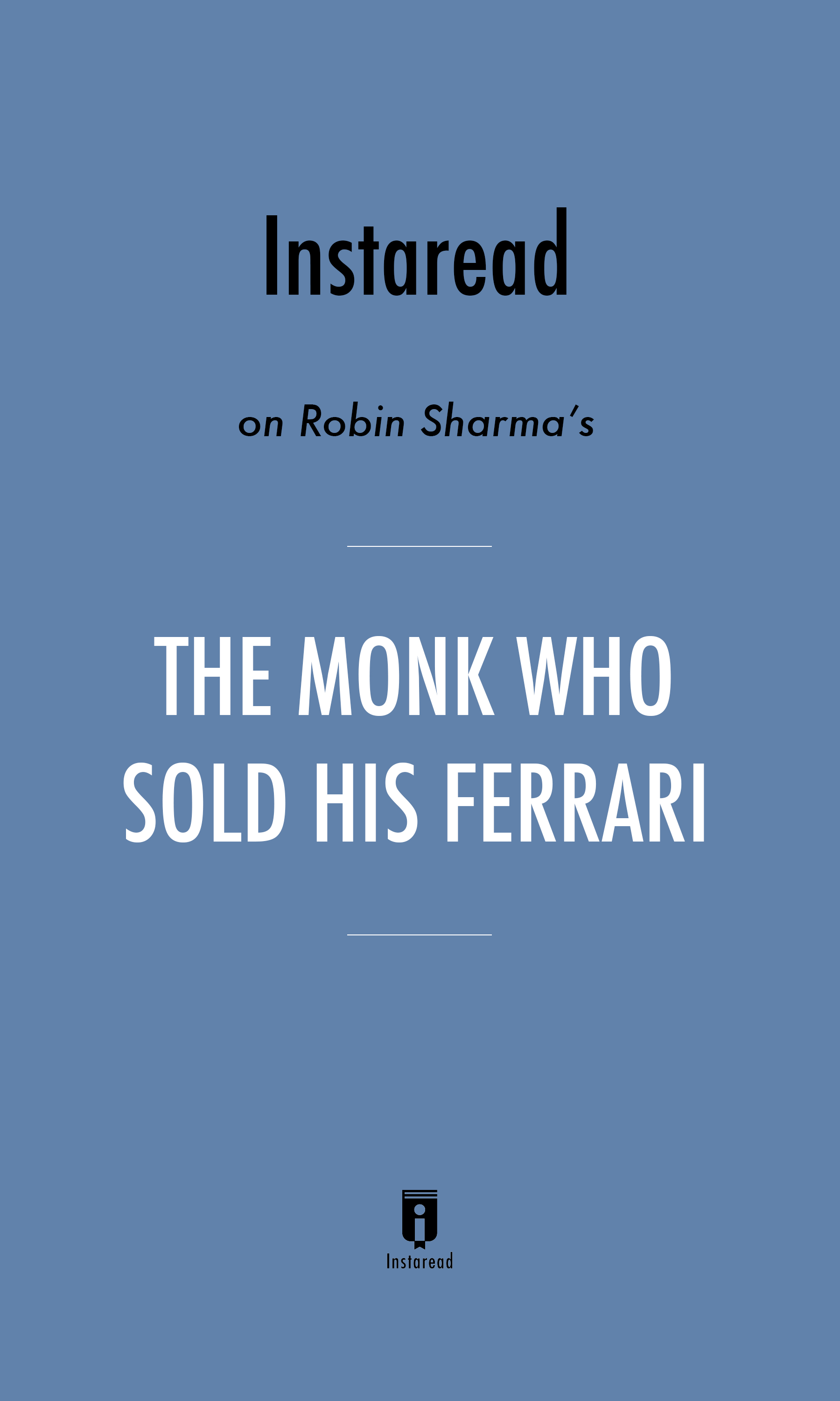"""Book Cover for """"The Monk Who Sold His Ferrari"""""""