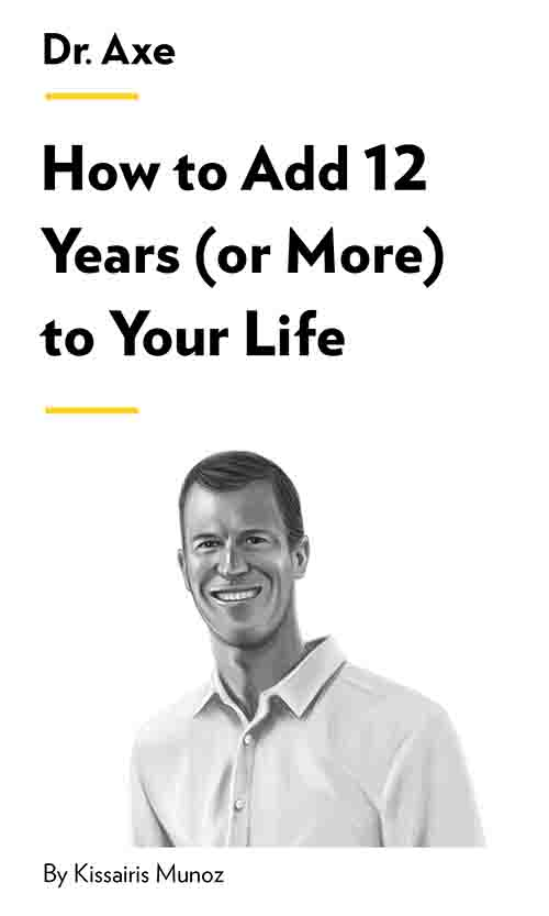 "Book Cover for ""How to Add 12 Years (or More) to Your Life"""