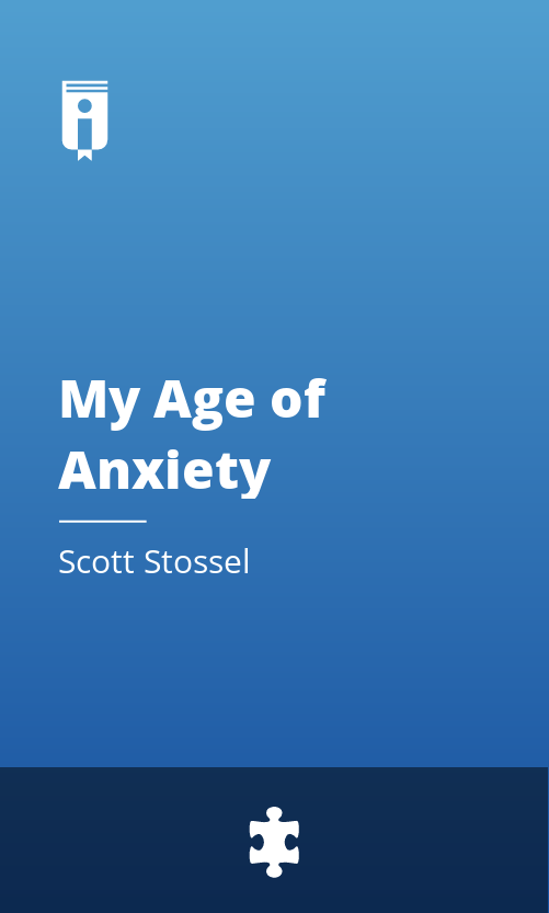 """Book Cover for """"My Age of Anxiety"""""""