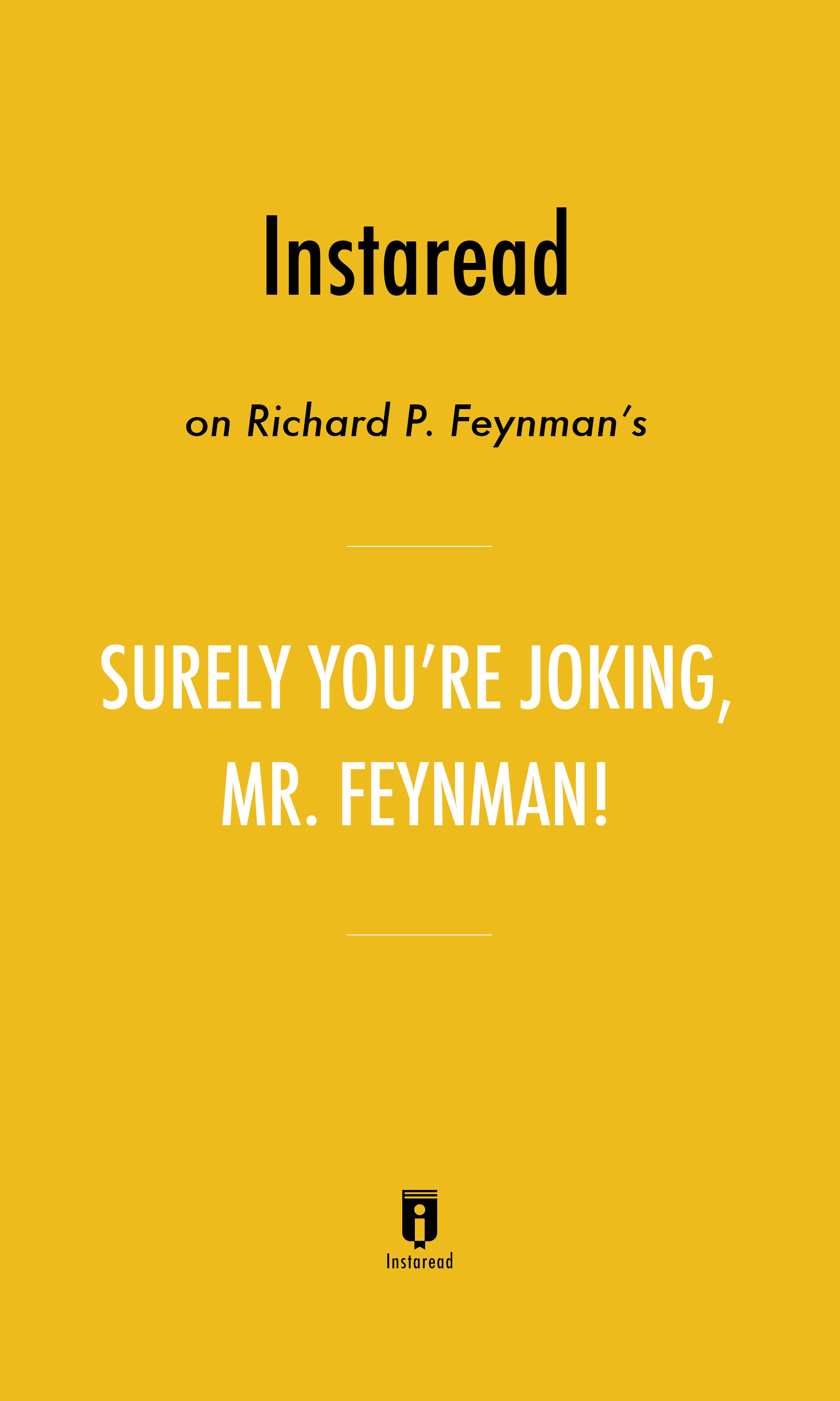 "Book Cover for ""Surely You're Joking, Mr. Feynman!"""