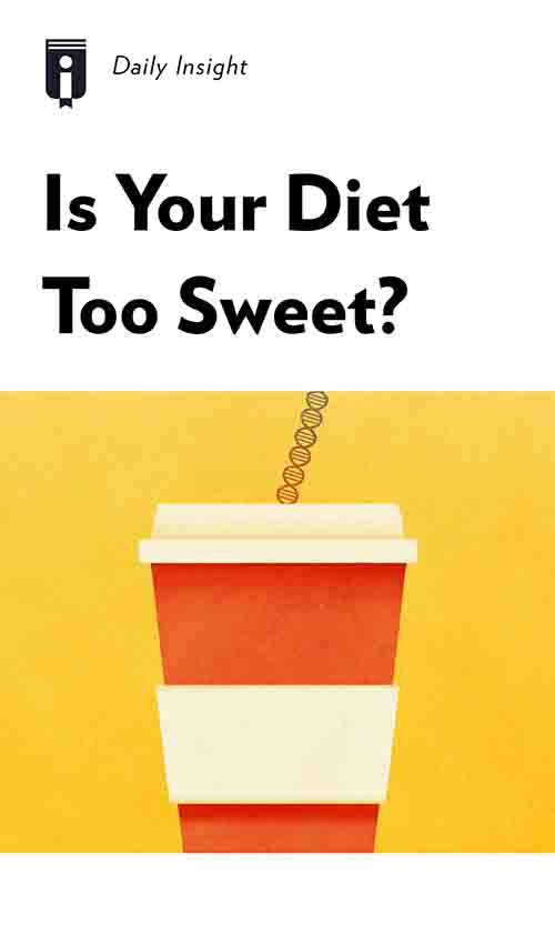 "Book Cover for ""Is Your Diet Too Sweet?"""