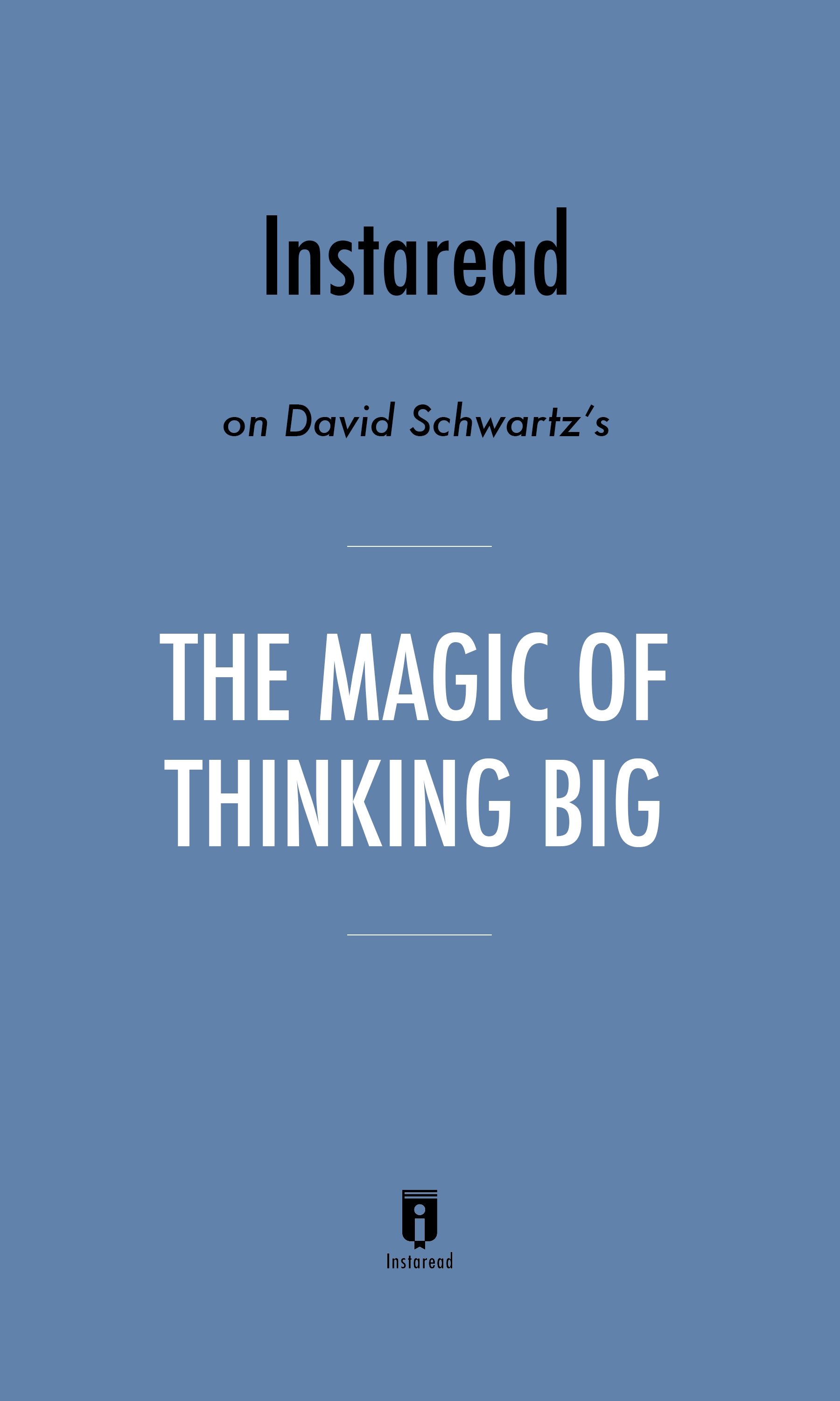 """Book Cover for """"The Magic of Thinking Big"""""""