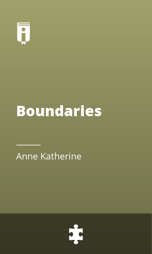 "Book Cover for ""Boundaries"""