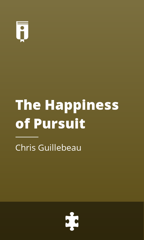 """Book Cover for """"The Happiness of Pursuit"""""""