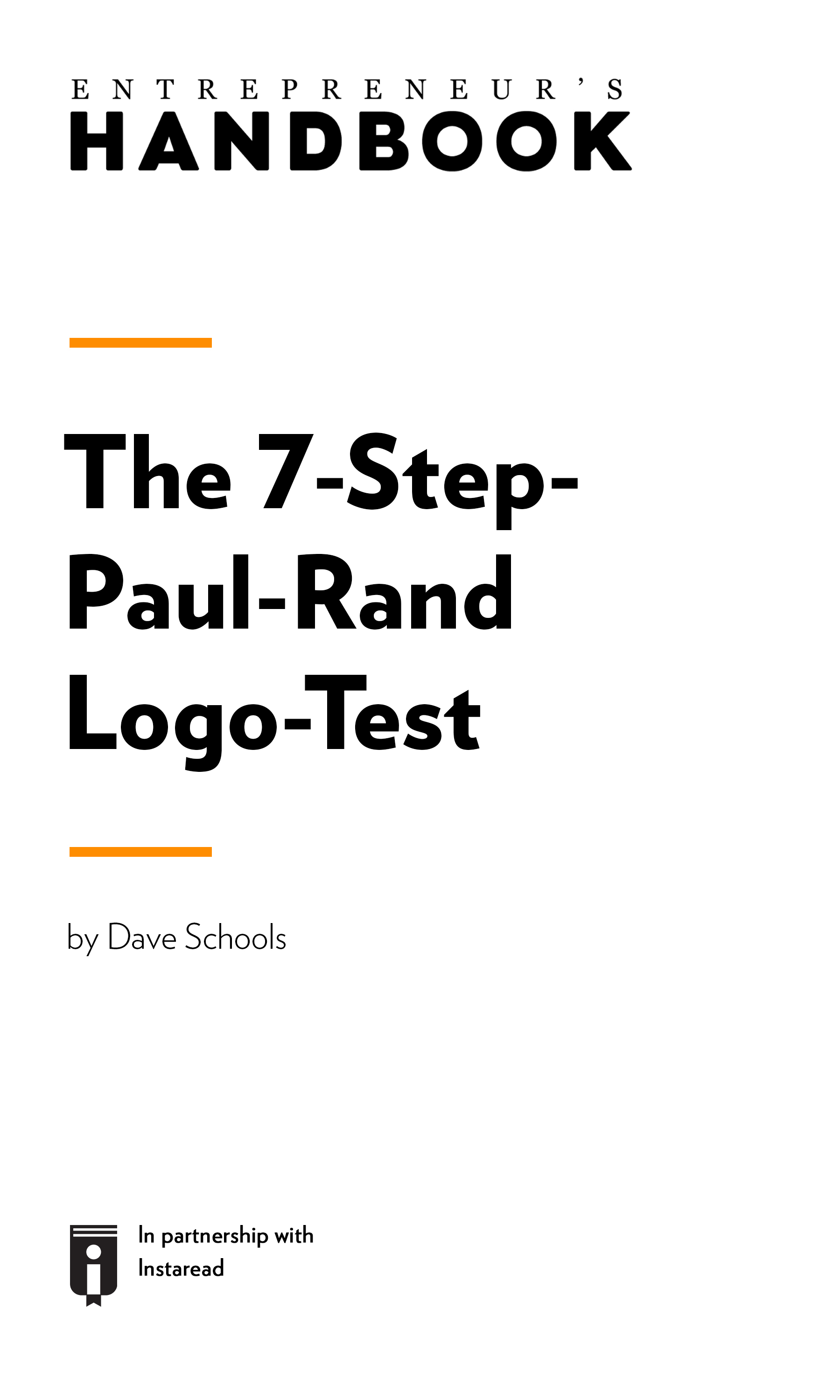 "Book Cover for ""The 7-Step-Paul-Rand Logo-Test"""