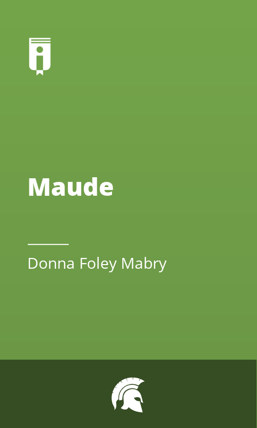 """Book Cover for """"Maude"""""""