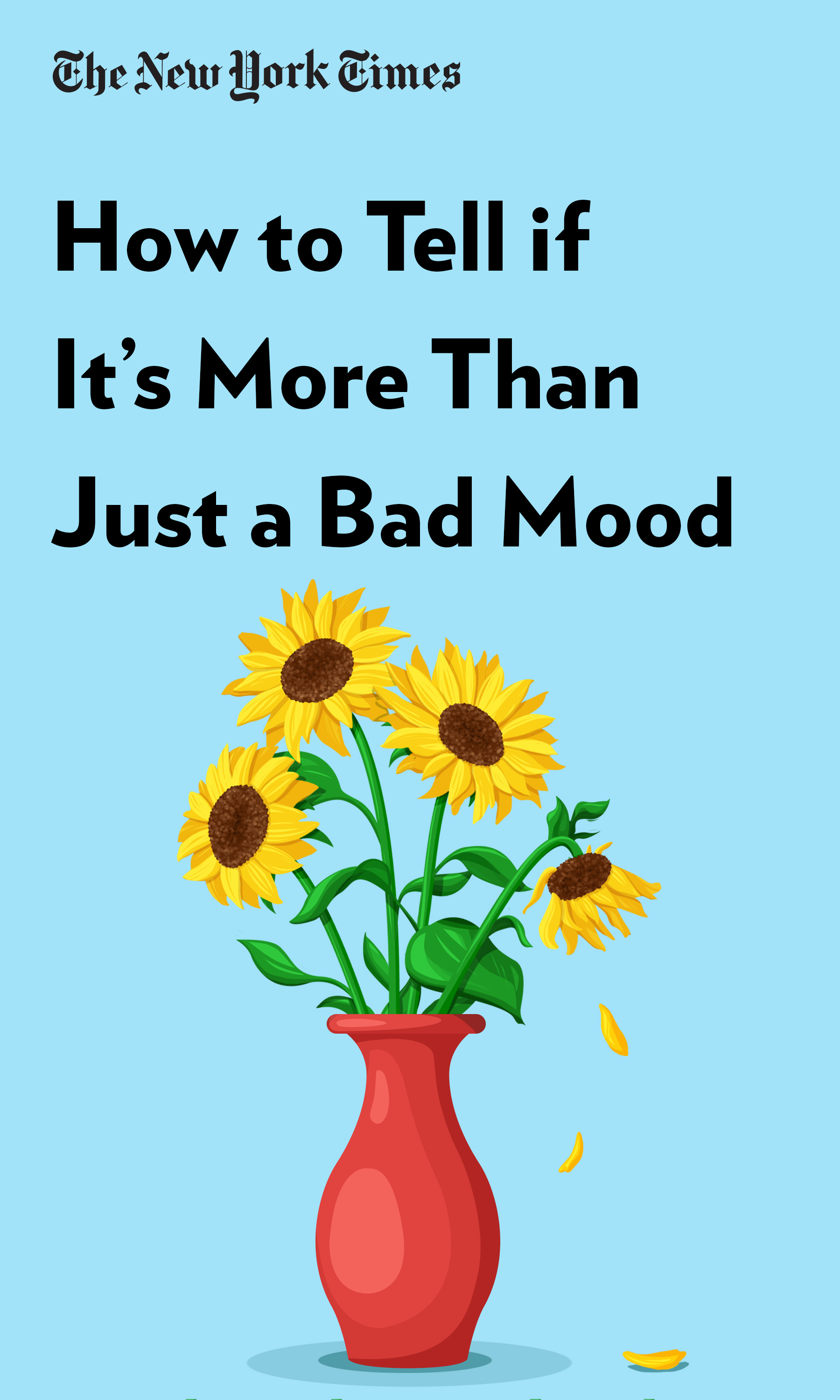 """Book Cover for """"How to Tell if It's More Than Just a Bad Mood"""""""