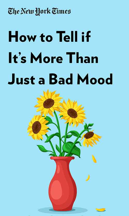 "Book Cover for ""How to Tell if It's More Than Just a Bad Mood"""